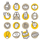 Funny icons. Stock Images