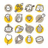 Funny icons. Stock Image