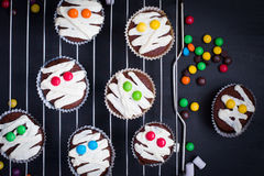 Funny idea for Halloween dessert Royalty Free Stock Photography