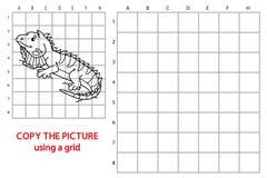 Funny iguana game. Royalty Free Stock Image