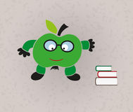 Funny illustration - back to school Stock Images