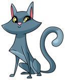 Cat Sitting Illustration Stock Image