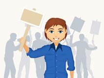 Illustration of Protest demonstration. Funny illustration of people in the protest demonstration Royalty Free Stock Photo