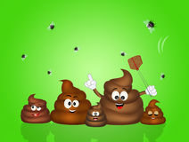 Funny illustration of poop Stock Image