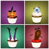Various trick or treat. Funny illustration of various trick or treat for Halloween Royalty Free Stock Photos
