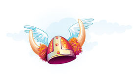 Funny image of a viking helmet Stock Photography
