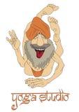 Funny Indian Yogi Man Stock Photos