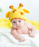 Funny infant baby boy Stock Photography