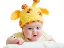 Funny infant baby boy Royalty Free Stock Photos