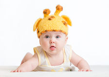 Funny infant baby Stock Photo