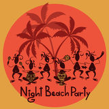 Funny invitation to night beach party Royalty Free Stock Photos