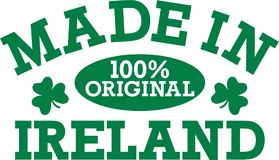 Funny irish kids saying - Made in ireland 100% original. Vector stock illustration