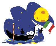 Funny Italian gondola Stock Photo
