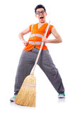Funny janitor Stock Photography