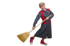Funny janitor isolated Royalty Free Stock Photography