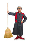 Funny janitor isolated Royalty Free Stock Photo