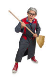 Funny janitor isolated Royalty Free Stock Images