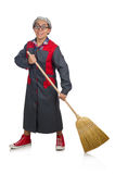 Funny janitor isolated Stock Images