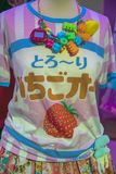 Funny Japanese T-Shirt At The Tropenmuseum Exhibition Cool Japan Amsterdam The Netherlands 2018.  royalty free stock photography