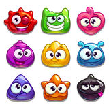 Funny jelly characters set Stock Images