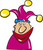 Funny jester. Illustration of funny smiling jester Stock Images