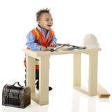 Funny on the Job Stock Photo
