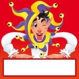 Funny Jocker silhouettes. Royalty Free Stock Photography