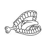 Funny Joke teeth icon Royalty Free Stock Photo