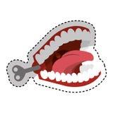 Funny Joke teeth icon Stock Photo