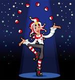 Funny Joker. Cartoon and vector illustration stock illustration