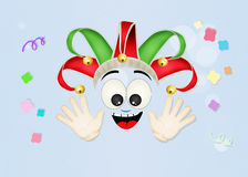 Funny joker cartoon Stock Photo