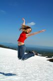 Funny jump Royalty Free Stock Photos