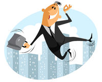 Funny jumping businessman Royalty Free Stock Photography