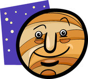 Funny jupiter planet cartoon illustration Stock Photo