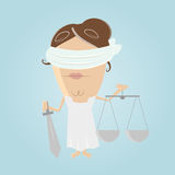Funny justitia illustration Royalty Free Stock Photos