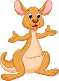 Funny kangaroo cartoon Royalty Free Stock Photography