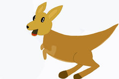 Funny kangaroo.Illustration. vector illustration