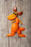 Funny kangaroo made of fruits Royalty Free Stock Photography