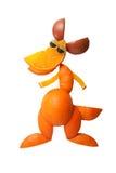 Funny kangaroo made of orange Stock Photos