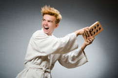 Funny karate fighter Stock Photography