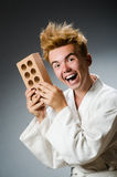 Funny karate fighter Stock Image