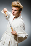 Funny karate fighter Stock Photo