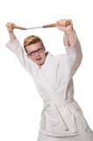 Funny karate fighter Royalty Free Stock Images