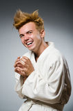 Funny karate fighter wearing Stock Images