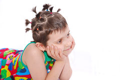 Funny kid stock photo