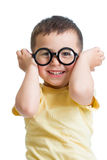 Funny kid boy wearing glasses Royalty Free Stock Photos