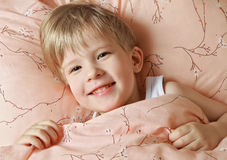Funny kid does not want to sleep Royalty Free Stock Images