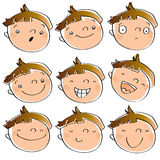 Funny kid's expressions Stock Image