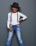Funny kid smiling with hat Royalty Free Stock Photos