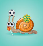 funny kid snail. Stock Images